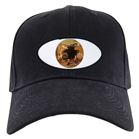 Vintage Thanksgiving Black Cap
