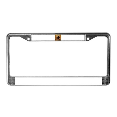 Vintage Thanksgiving License Plate Frame