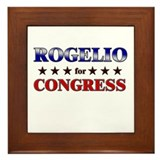 ROGELIO for congress Framed Tile