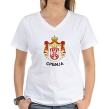 Serbia coat of arms with name Shirt