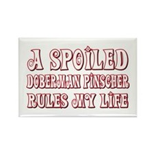 Spoiled Doberman Rectangle Magnet