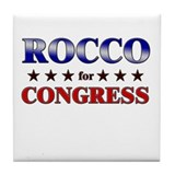 ROCCO for congress Tile Coaster