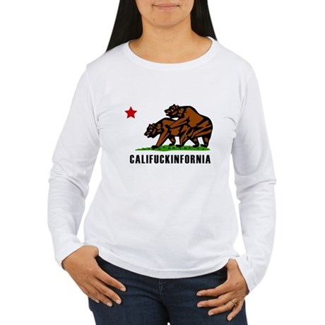 Califuckinfornia Womens Long Sleeve T-Shirt