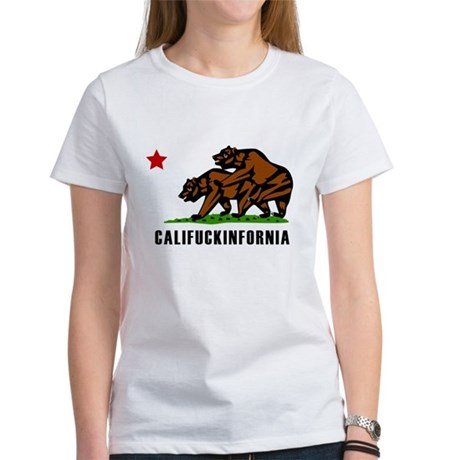 Califuckinfornia Womens T-Shirt