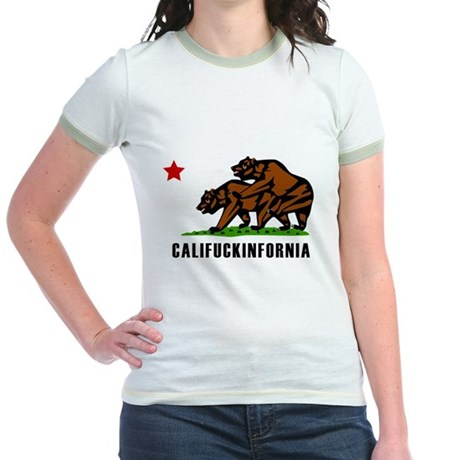 Califuckinfornia Jr Ringer T-Shirt