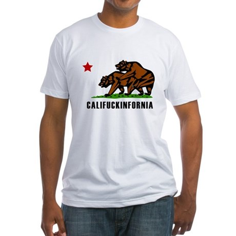 Califuckinfornia Fitted T-Shirt