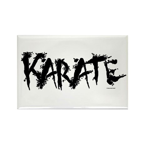 """Karate"" 3 Rectangle Magnet"