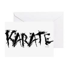 """""""Karate"""" 3 Greeting Card"""