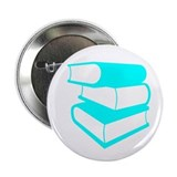 "Stack Of Cyan Books 2.25"" Button (10 pack)"