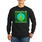 Wishing You A Merry Christmas Long Sleeve Dark T-S