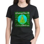 Wishing You A Merry Christmas Women's Dark T-Shirt