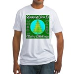 Wishing You A Merry Christmas Fitted T-Shirt