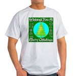 Wishing You A Merry Christmas Light T-Shirt