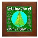 Wishing You A Merry Christmas Framed Tile