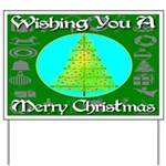 Wishing You A Merry Christmas Yard Sign