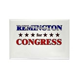 REMINGTON for congress Rectangle Magnet