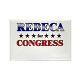 REBECA for congress Rectangle Magnet