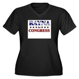 RAYNA for congress Women's Plus Size V-Neck Dark T