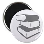 Stack Of Gray Books Magnet