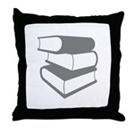 Stack Of Gray Books Throw Pillow
