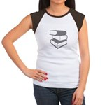 Stack Of Gray Books Women's Cap Sleeve T-Shirt
