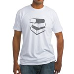 Stack Of Gray Books Fitted T-Shirt