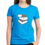 Stack Of Gray Books Women's Dark T-Shirt