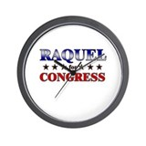 RAQUEL for congress Wall Clock