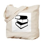 Stack Of Black Books Tote Bag