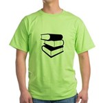 Stack Of Black Books Green T-Shirt