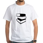 Stack Of Black Books White T-Shirt