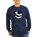 Stack Of Black Books Long Sleeve Dark T-Shirt
