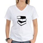 Stack Of Black Books Women's V-Neck T-Shirt