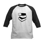 Stack Of Black Books Kids Baseball Jersey