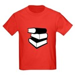 Stack Of Black Books Kids Dark T-Shirt