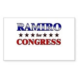 RAMIRO for congress Rectangle Decal