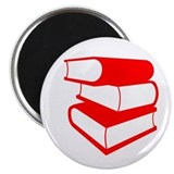 Stack Of Red Books Magnet