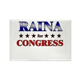 RAINA for congress Rectangle Magnet