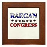 RAEGAN for congress Framed Tile