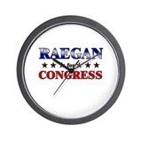 RAEGAN for congress Wall Clock