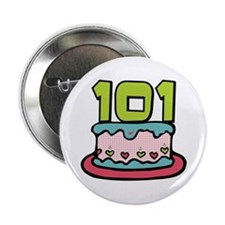 "101st Birthday Cake 2.25"" Button"
