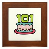 101st Birthday Cake Framed Tile