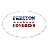 PRESTON for congress Oval Decal
