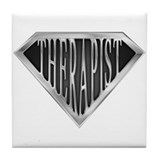 SuperTherapist(metal) Tile Coaster