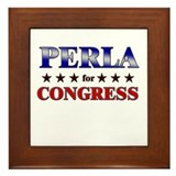 PERLA for congress Framed Tile