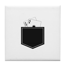 Pocket Aces Tile Coaster