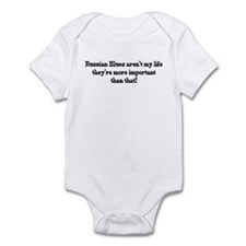 Russian Blues are my life Infant Bodysuit