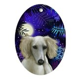 SALUKI DOG MOON Keepsake (Oval)