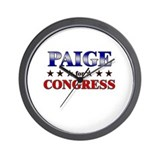 PAIGE for congress Wall Clock