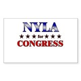 NYLA for congress Rectangle Decal